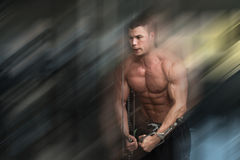 Chest Workout Cable Crossover Stock Photos
