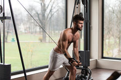 Chest Workout With Cables Royalty Free Stock Photos