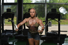 Chest Workout With Cables Stock Image