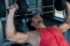 Chest Workout With Dumbbells Stock Photography