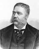 Chester Alan Arthur. (1829-1886) on engraving from 1883. 21st President of the United States. Engraved by A.Weger royalty free stock photography
