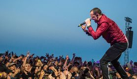 Chester Bennington - Linkin Park Images libres de droits