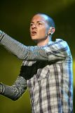 Chester Bennington with Linkin Park stock image