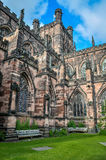 Chester Cathederal. Chester Cathedral is a Church of England cathedral It is located in the city of Chester, Cheshire, England Royalty Free Stock Photo