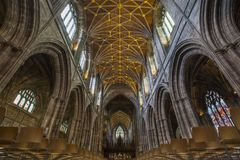 Chester Cathedral royalty-vrije stock afbeelding