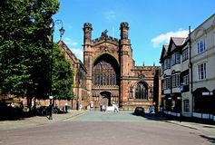 Chester Cathedral Royaltyfri Fotografi