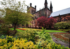 Chesters Cathedral, Cheshire England UK. Chester Cathedral Cheshire England UK is one of the most visited place in Chester by tourists from many countries Royalty Free Stock Image