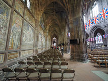 Chester Cathedral in Chester stock afbeeldingen