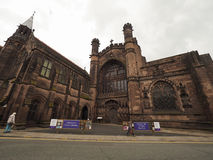 Chester Cathedral in Chester stock afbeelding