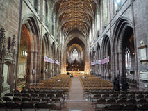 Chester Cathedral in Chester stock foto's