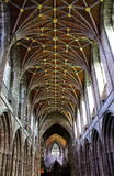 Chester Cathedral Decorative Ceiling. The decorative nave ceiling in Chester Cathedral, UK Stock Image
