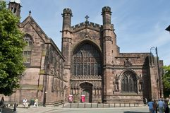 Chester Cathedral, Chester, het UK stock afbeelding