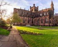 Chester Cathedral in Chester, het UK stock afbeelding