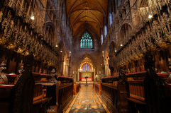 Chester Cathedral Interior Stock Photo