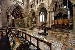 Chester Cathedral Interior royalty-vrije stock foto
