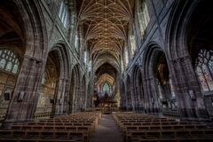 Chester Cathedral Nave Stock Photography
