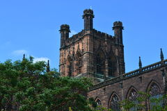 Chester Cathedral. In the summer Stock Photos