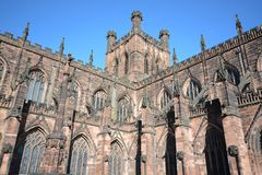 Chester cathedral, Uk. Chester cathedral in Cheshire, England on a sunny day Royalty Free Stock Photo