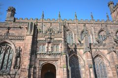 Chester cathedral, Uk. Chester cathedral in Cheshire, England on a sunny day Stock Image