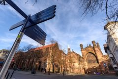 Chester Cathedral Uk stock foto's