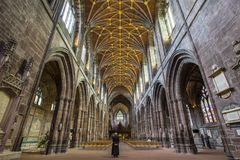 Chester Cathedral. Chester, UK - July 31st 2018: Interior view of the magnificent Chester Cathedral in Chester, UK royalty free stock image