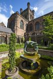 Chester Cathedral. Chester, UK - July 31st 2018: A view of the stunning Chester Cathedral in the historic city of Chester, UK stock images