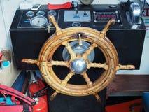 CHESTER CHESHIRE /UK - 16 SEPTEMBER: Het Wiel van het schip in de Cabine o Royalty-vrije Stock Foto's