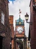CHESTER CHESHIRE /UK - SEPTEMBER 16: Viktoriansk stadsklocka i Che Arkivfoton