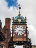 CHESTER CHESHIRE /UK - SEPTEMBER 16: Viktoriansk stadsklocka i Che Arkivbilder
