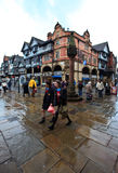 Chester city center in busy midday Stock Photography