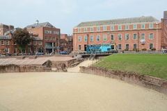 Chester city centre Amphitheatre. View of Chester Grade 1 listed building, Amphitheatre, in the county of Cheshire Royalty Free Stock Images