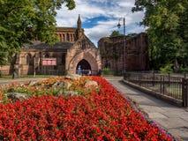 Chester City England het UK stock afbeeldingen