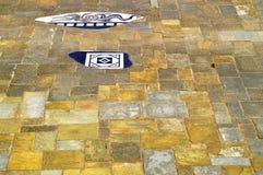 Chester City-het bedekken plakken in de Roman tuin royalty-vrije stock afbeelding