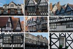 Chester, collage di architettura di Tudor Fotografia Stock Libera da Diritti