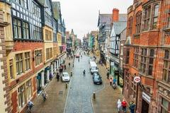 CHESTER, ENGELAND - MAART ACHTSTE, 2019: Een mening van Chester Highstreet royalty-vrije stock fotografie