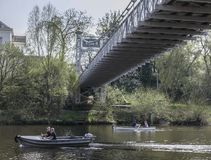 Chester, England, Großbritannien - Fluss Dee stockbilder