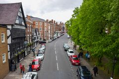 Traffic in Chester was free royalty free stock images