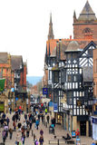 Chester high street scene Stock Photo