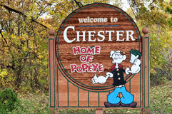 Chester Illinois Home Of Popeye photo stock