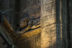 Chester Imp in Chester Cathedral stock afbeelding