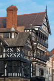 Chester, Inglaterra, detalhe preto e branco da construção Imagens de Stock Royalty Free