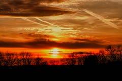 chester län över pa-solnedgångar Arkivfoton