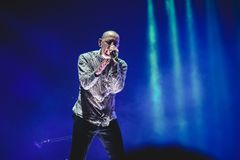 Chester Linkin Park Bennington Singing on Stage Stock Photos
