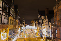 Chester at night Royalty Free Stock Images