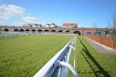 Chester race course. Cheshire on a sunny day Royalty Free Stock Photo