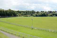 Chester race Course. A popular sporting event on a sunny day Stock Image