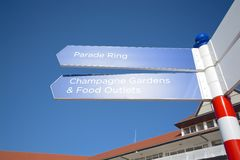 Chester race course sign. With a blue sky background Royalty Free Stock Images