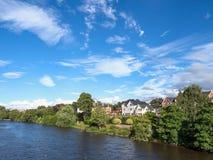Chester River Dee Großbritannien Stockbilder