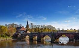 Chester rzeka Dee Zdjęcie Royalty Free