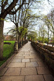 Chester's streets and city park in spring Royalty Free Stock Image